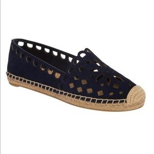 Tory Burch May Perforated Espadrille Flat Slip On